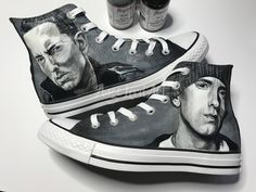 7d8da6c095f Excited to share this item from my  etsy shop  Custom Painted Eminem inspired  Converse