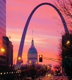 """St. Louis, where I spent most of my life! We have the arch overlooking the """"Mighty Mississippi""""!"""