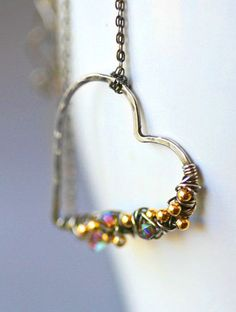 Free Form Sterling Wire Wrapped Heart