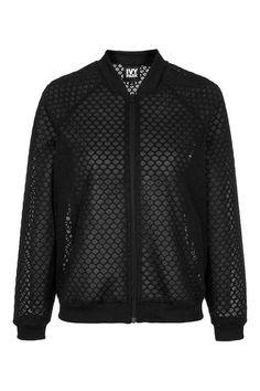 Hexagon Mesh Bomber Jacket by Ivy Park - Topshop USA