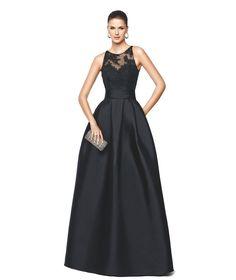 Vestido de festa decote em coração cor clara Modelo Nallibe - Pronovias 2015