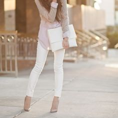 One pair of white jeans skinny white jeans