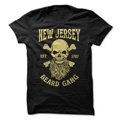 NEW JERSEY BEARD GANG - #cute tee #tshirt makeover. SAVE => https://www.sunfrog.com/LifeStyle/NEW-JERSEY-BEARD-GANG.html?68278