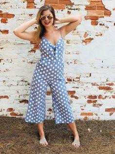 5f56c7595ea Polka Dot Fever Jumpsuit- Baby Blue Blue Jumpsuits