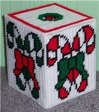 Candy Canes Tissue Box Cover
