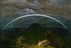 Gebirgslandschaft mit Regenbogen (Caspar David Friedrich)