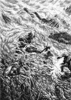Gothmog Strikes Fingon Down by ~Tulikoura on deviantart
