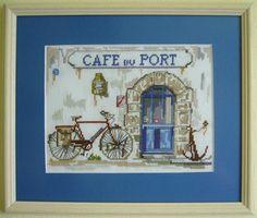 Cafe du port 24 x 28 cm View Photos, Gallery, Cover, Frame, Books, Home Decor, Picture Frame, Libros, Decoration Home