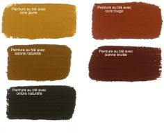 couleurs de peinture au blé et à l'ocre naturel