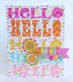 Doodlebug Hello card - Scrapbook.com