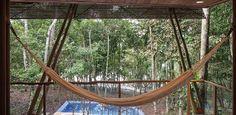 Casa arejada e com piscina é refúgio no meio da floresta amazônica