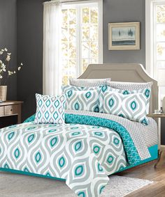 Look what I found on #zulily! Teal Debbie Bed-In-Bag Eight-Piece Comforter Set #zulilyfinds