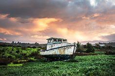 Barco De Pesca, Buque, De Arranque