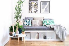 Retrouvez notre DIY banquette design en partenariat avec Le Bon Coin, créez facilement une banquette avec rangements intégrés à partir d'un meuble IKEA.