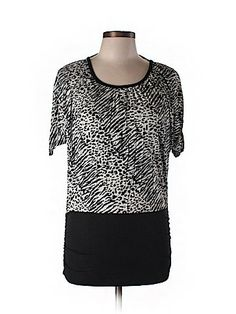 Zenobia Women Short Sleeve Top Size 3X (Plus)