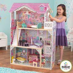 """Kidkraft 65079 Большой кукольный  домик для барби """"Прекрасная Аннабель"""" с мебелью 17 предметов"""