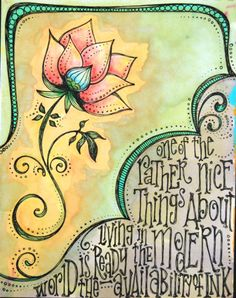 I really want to learn how to do this style of lettering ~ by Denice Barlow Brown