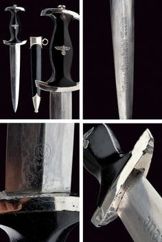 An SS dagger.    provenance:	 	Germany dating:	 	second quarter of the 20th Century.
