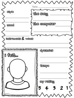 MUSIC LISTENING WORKSHEET BUNDLE - TeachersPayTeachers.com