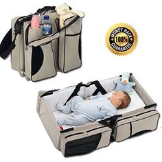 Boxum 3 in 1  Diaper Bag  Travel Bassinet  Change Station  Cream  Multipurpose 1 Baby Diaper Tote Bag Bed Nappy Infant Carrycot Crib Cot Nursery Portable Change Table Portacrib Boy Girl Top Best Quality Newborn -- Check out the image by visiting the link.