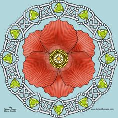 Don't Eat the Paste: August Birthstone and Flower Mandala