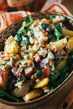 Roasted Potato Salad with Arugula #recipe #healthy #sidedish