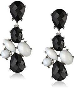 The Bling Archive - Chokers Black And White Earrings, Fashion Boutique, Dangle Earrings, Dangles, Chokers, Bling, Stone, Shoe Bag, Silver