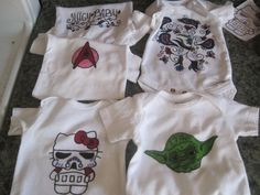 Baby Shower activity. Custom onsies/shirts.