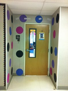 "Polka Dot Classroom Entry Way    We're ""Spot"" tactular in 2nd Grade!"