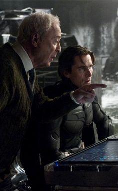 Alfred and Batman Batman Dark, Batman The Dark Knight, Batman Vs Superman, The Dark Knight Trilogy, The Dark Knight Rises, Dc Movies, Good Movies, Comic Movies, Heath Ledger