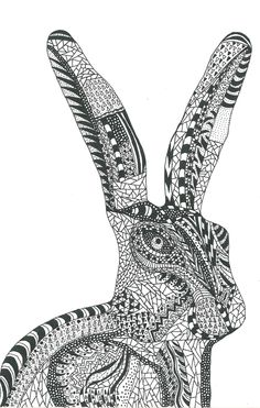 Hare line drawing by Rosie's. Craft Shop, Hare, Line Drawing, Drawings, Handmade, Gifts, Beautiful, Design, Hand Made