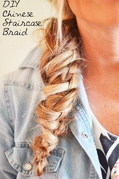 Chinese Staircase Braid Tutorial This looks insane.... I must try it!