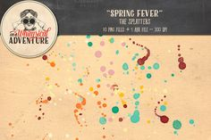 On Sale - Spring Fever Splatters by @Graphicsauthor