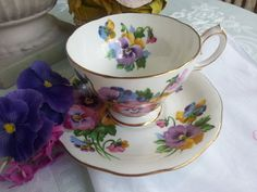 Spring Melody Set by Queen Anne made in by LindsayJanesCottage