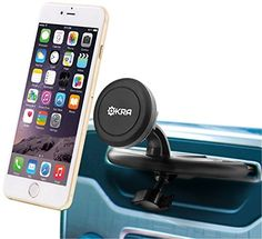 Okra Universal Powerful Magnetic CD Slot Car Mount  Cradleless for all Smartphones  GPS Apple iPhone 6 Plus 6 5S 5 4S Samsung Galaxy S6 S5 S4 Note 4 3 2 Retail Packaging >>> You can get additional details at the image link.