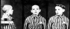 Sometimes I can't take these photos.  The EVIL bastards imprisoed this small CHILD.  Auschwitz, Poland, 1943, The Child Anatoli Vanukevitch in Prison Clothes  Photographs  Film and Photo Archive, Yad Vashem  All rights reserved