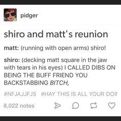 Matt and Shiro XDD