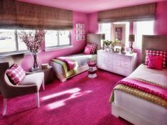 Exciting Teenage Girl Bedroom Themes For Modern Home Design: teenage girl room ideas designs ideas for teenage rooms teen girls bedroom decorating ideas bedroom ideas teenage girl room theme ideas for a teenage girl Pink Bedroom For Girls, Pink Room, Kids Bedroom, Bedroom Decor, Bedroom Ideas, Design Bedroom, Fuschia Bedroom, Bedroom Wall, Bedroom Themes