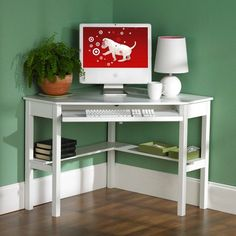 Corner Desk White - Southern Enterprises : Target