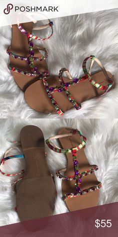 Sandals Embellished Sandals by I•N•C  Never worn! The bottom looks little worn because it's been in a drawer with my other sandals  Doesn't fit me. INC International Concepts Shoes Sandals