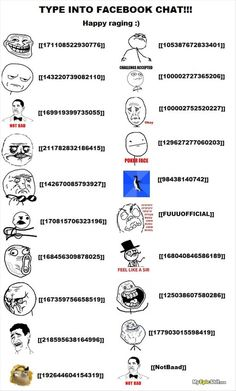 how to make rage comic faces in a facebook chat
