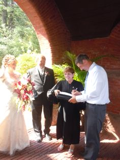 Me, with #Bride, Christine, and #Groom, Stephen, at their #wedding at the Steven's Estate, in North Andover, #MA.