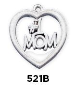 #1 Mom Heart Charm  Sterling Silver #1 Mom Heart Charm www.finegifts.labellabaskets.com