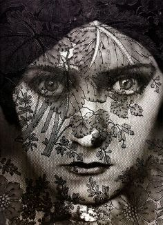 Actress Gloria Swanson    By: Edward Steichen, 1924    Lace Overlay