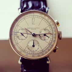 "hodinkee: "" 1940s @audemarspiguet chronograph in stainless steel and pink gold. Featured in today's #talkingwatches. """