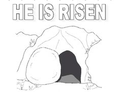 Jesus is alive on pinterest easter crafts easter and for Jesus is risen coloring page