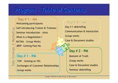 A 2 day seminar:  Negotiating & Closing Bargains  Date: Thursday - February 7, 2013 - 09:00 AM  Location: PHMC Training Center - MARSEILLE