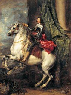 Equestrian Portrait of Tommaso Francesco of Savoy, Prince of Carignano, c. 1634 - 1635 by Sir Anthony van Dyck (Flemish, Anthony Van Dyck, Sir Anthony, Palazzo, Anton Van, Andrea Mantegna, Prinz Eugen, Baroque Painting, Prince, Caravaggio