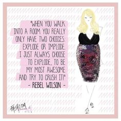 Today is the day! @pitchperfectmovie in cinemas now! We talked with the amazing @rebelwilson . Let´s explode!  #pitchperfect2 #fashion #quote #bellafierce