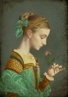 """""""First Rose"""". Джеймс К. Кристенсен (английский James C. Christensen) (род.1942, США) — известный американский художник, пишущий религиозную и фэнтези живопись."""